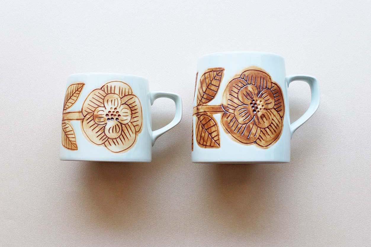 画像1: Pebble Ceramic Design Studio  コーヒーカップ フラワー (1)