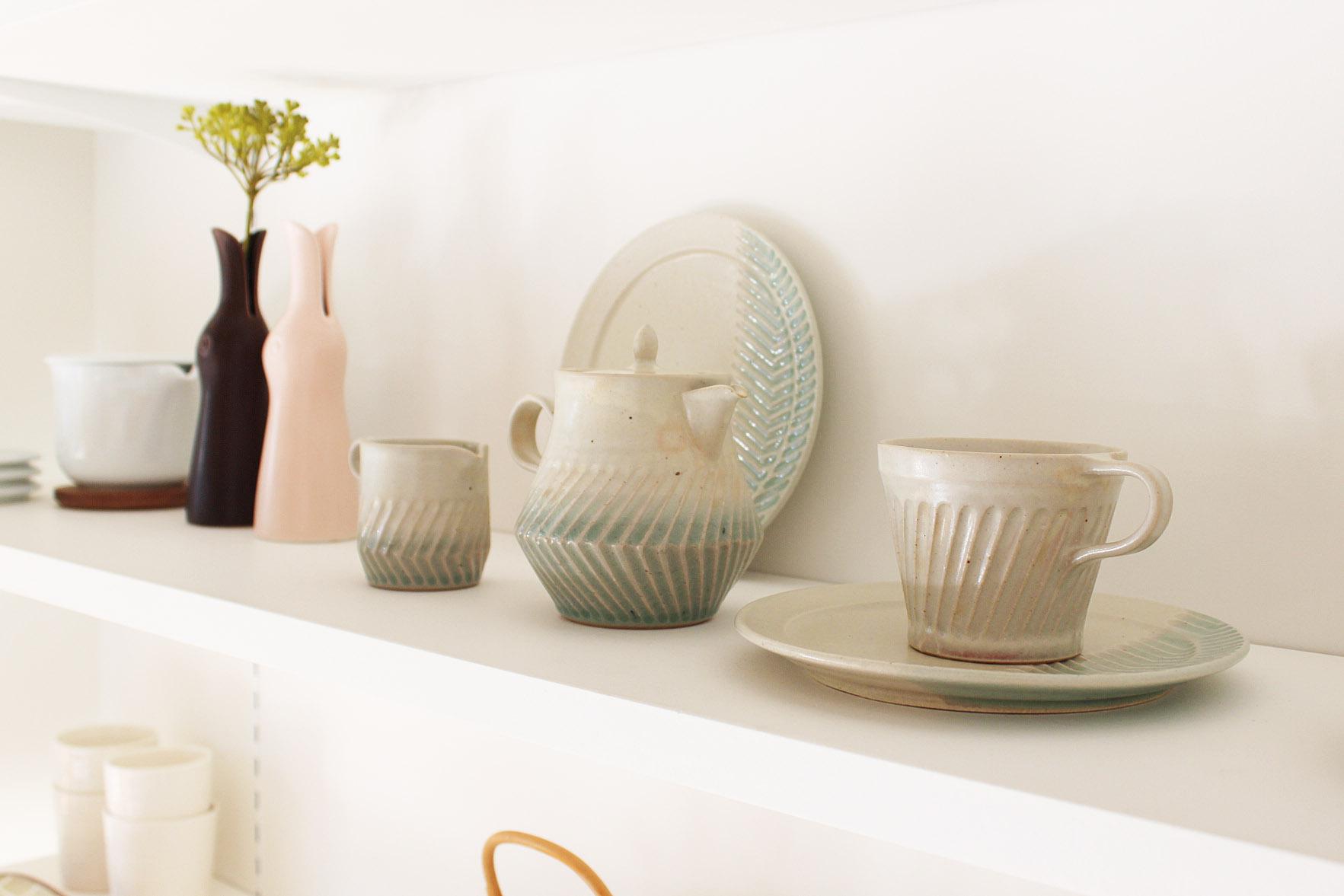 画像1: Mishin pottery creation  「soak」マグカップ (1)