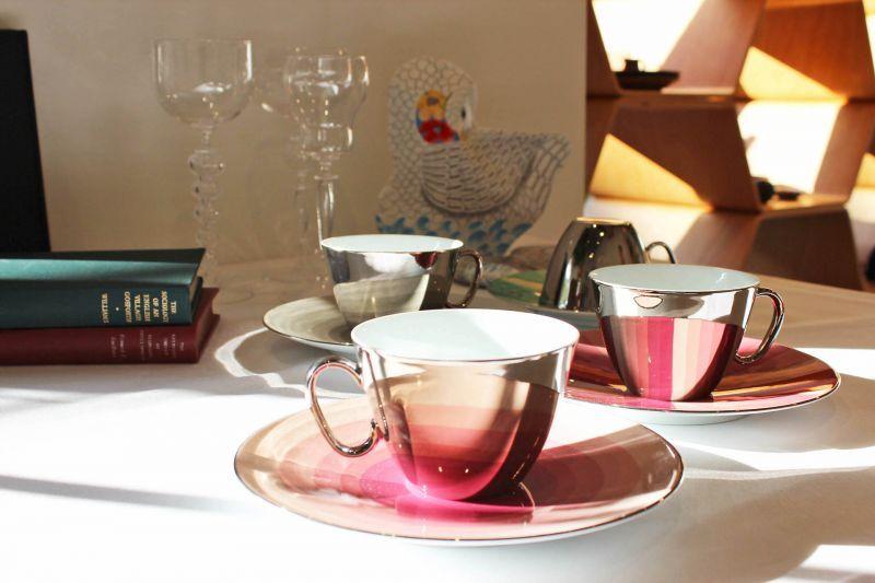 画像1: D-BROS  ミラーカップ&ソーサー From dawn till dusk (1)