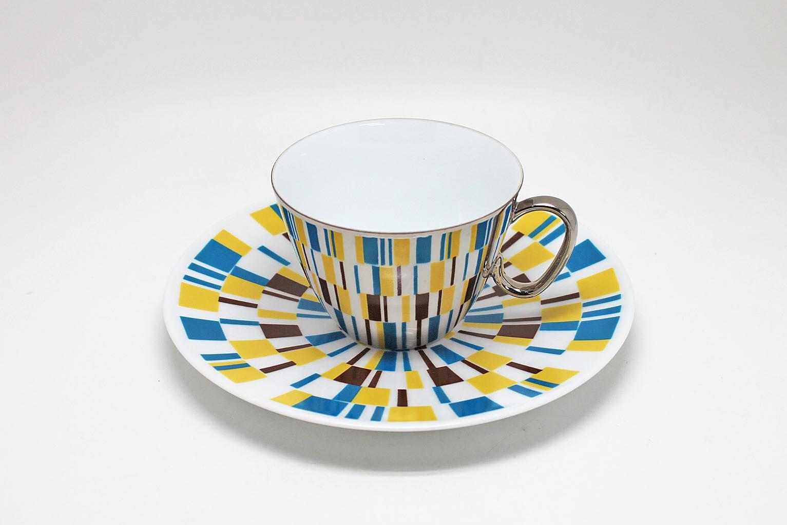 画像1: D-BROS  ミラーカップ&ソーサー Kaleidoscope (1)